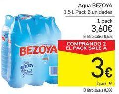 Oferta de Agua BEZOYA  por 3,6€