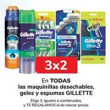 Oferta de En TODAS las maquinillas desechables, geles y espumas GILLETTE. por