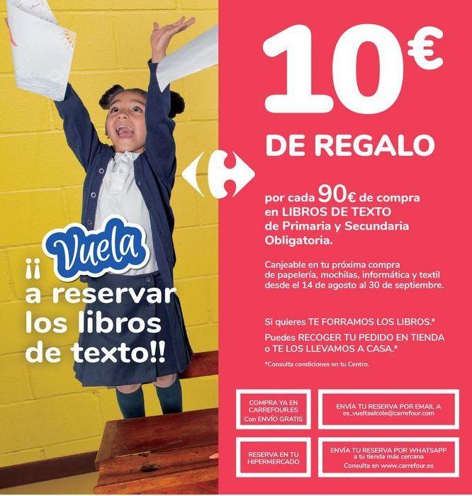 Oferta de Por cada 90€ de comprar en LIBROS DE TEXTO de Primaria y Secundaria Obligatoria  por