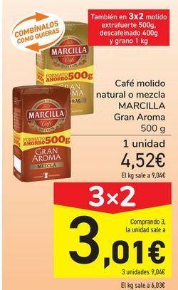 Oferta de Café molido natural o mezcla MARCILLA Gran Aroma  por 4,52€