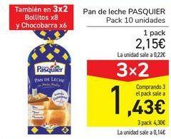 Oferta de Pan de leche PASQUIER  por 2,15€