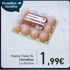 Oferta de Huevos Clase XL Carrrefour  por 1,99€