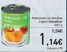 Oferta de Melocotón en almíbar ligero Carrefour  por 1,14€