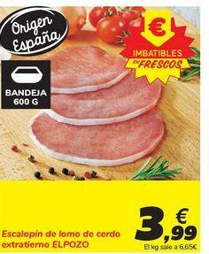Oferta de Escalopín de lomo de cerdo extratierno EL POZO por 3,99€