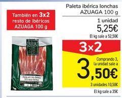Oferta de Paleta ibérica lonchas AZUAGA por 5,28€