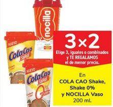 Oferta de En COLA CAO Shake. Shake 0% y NOCILLA Vaso por