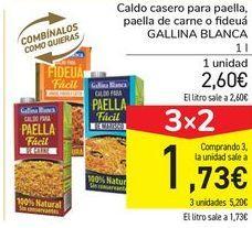 Oferta de Caldo casero para paella, paella de carne o fideuá GALLINA BLANCA por 2,6€