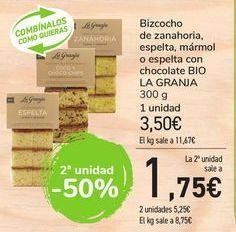Oferta de Bizcocho de zanahoria, espelta con chocolate BIO LA GRANJA  por