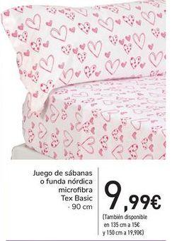 Oferta de Juego de sábanas o fundas nórdica microfibra Tex Basic  por 9,99€