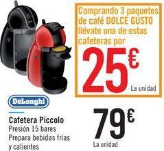Oferta de Cafetera Piccolo DeLonghi  por 79€