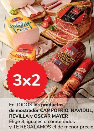 Oferta de En TODOS los productos de mostrador CAMPOFRÍO, NAVIDUL, REVILLA y OSCAR MAYER por