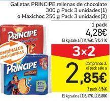 Oferta de Galletas PRINCIPE Rellenas de chocolate o Maxichoc por 4,28€