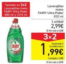 Oferta de Lavavajillas mano FAIRY Ultra Poder  por 2,99€