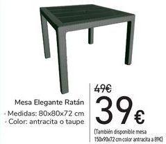 Oferta de Mesa Elegante Ratán  por 39€