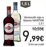 Oferta de Vermouth Rojo o blanco Martini por 9,99€