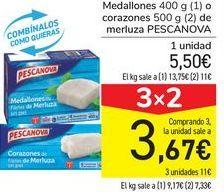 Oferta de Medallones o corazones de merluza PESCANOVA por 5,5€