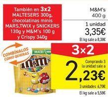 Oferta de M&M'S por 3,35€