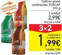 Oferta de Café en grano continentes TOSCAF  por 2,99€