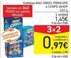 Oferta de Galletas mini OREO, PRINCIPE o CHIPS AHOY  por 1,45€