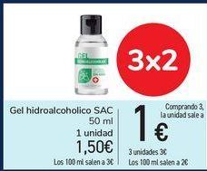 Oferta de Gel hidroalcoholico SAC por 1,5€
