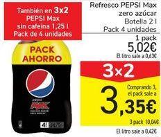Oferta de Refresco PEPSI Max Zero azúcares  por 5,02€