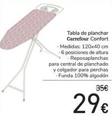 Oferta de Tabla de planchar Carrefour Confort  por 29€