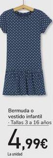 Oferta de Bermuda o vestido infantil  por 4,99€
