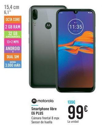 Oferta de Smartphone libre E6 PLUS Motorola  por 99€