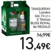 Oferta de TANQUERAY London + 2 tónicas BLISS ROYAL de REGALO  por 13,49€