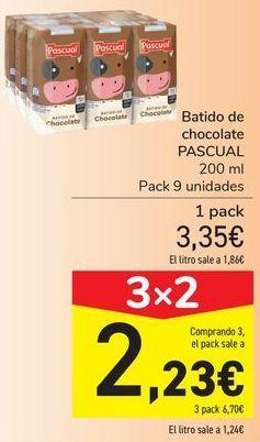 Oferta de Batido de chocolate PASCUAL  por 3,35€