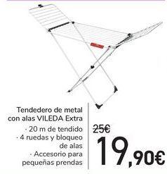 Oferta de Tendedero de metal con alas VILEDA Extra  por 19,9€