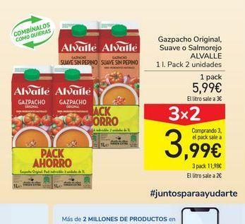 Oferta de Gazpacho Original, Suave o Salmorejo Alvalle por 5,99€