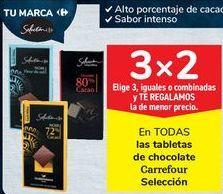 Oferta de En TODAS las tabletas de chocolate Carrefour Selección  por
