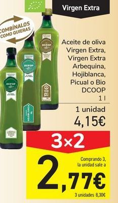 Oferta de Aceite de oliva Virgen Extra, Virgen Extra Arbequina, Hojiblanca por 4,15€