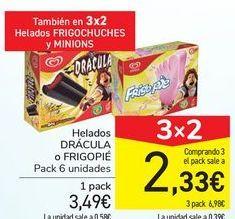 Oferta de Helados DRÁCULA o FRIGOPIÉ por 3,49€