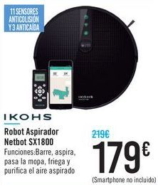 Oferta de Robot Aspirador Netbot SX1800 IKOHS por 179€