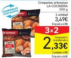 Oferta de Croquetas artesanas LA COCINERA por 3,49€