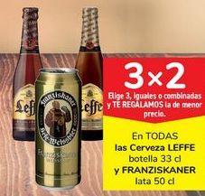 Oferta de En TODAS las cervezas LEFFE y FRANZISKANER por