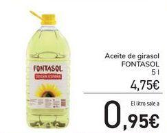 Oferta de Aceite de girasol FONTASOL por 4,75€