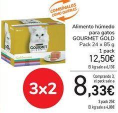 Oferta de Alimento húmedo para gatos GOURMET GOLD por 12,5€