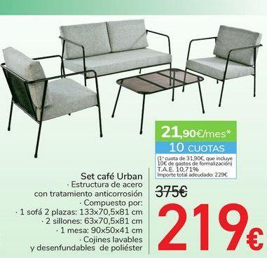 Oferta de Set café Urban  por 219€