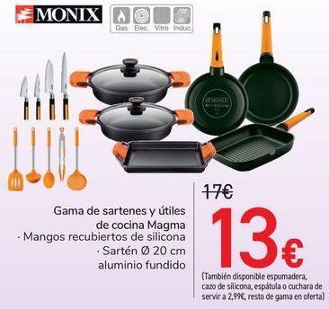 Oferta de Gama de sartenes y útiles de cocina Magma por 13€