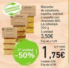 Oferta de Bizcocho de zanahoria, espelta con chocolate BIO LA GRANJA  por 3,5€