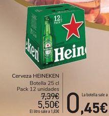 Oferta de Cerveza HEINEKEN  por 5,5€