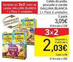Oferta de Caldo de pollo, pescado o cocido GALLINA BLANCA por 3,05€