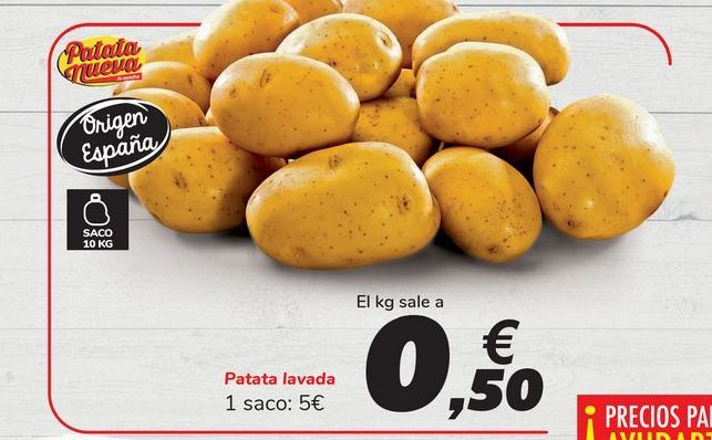 Oferta de Patata lavada por 5€