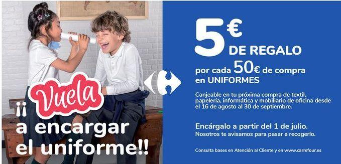 Oferta de Por cada 50€ de compra en UNIFORMES  por