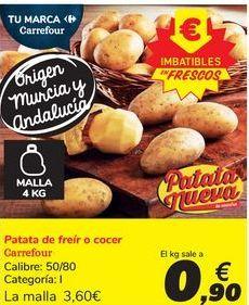Oferta de Patata de freír o cocer Carrefour por 3,6€