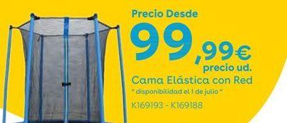 Oferta de Cama elástica con red por 99,99€