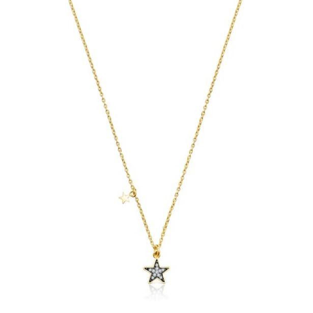 Oferta de        Collar Nocture de plata vermeil y estrella de diamantes      por 210€